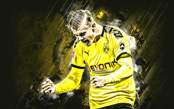 Download Wallpapers Erling Braut Haaland Borussia Dortmund Bvb Norwegian Soccer Player Portrait Bundesliga Germany Football For Desktop Free Pictures For Desktop Free
