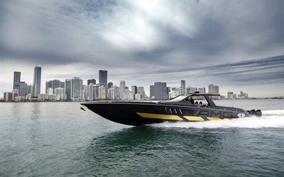 Cigarette Racing 59 Tirranna AMG Edition, luxury boat, tuning, racing boat, Mercedes-AMG