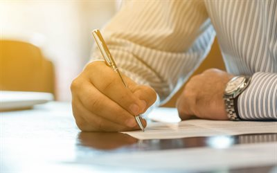 signing contract, 4k, pen in hand, business people, businessman, business, successful contract