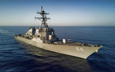 USS Carney, DDG-64, American destroyer, US Navy, warships, USA, Arleigh Burke-class destroyer