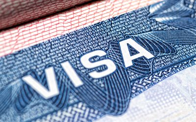 Visa to the USA, 4k, migration, visa concepts, American visa, emigration to the USA, Visa