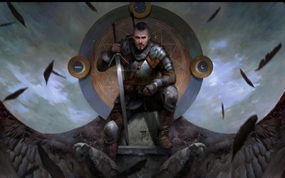 Gwent, The Witcher Card Game, materiali promozionali, poster, The Witcher, Geralt of Rivia, The Witcher personaggi