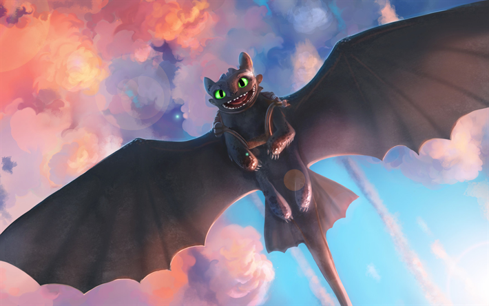Download Wallpapers Toothless 2019 Movie Art How To Train