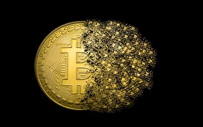 bitcoin, gold, art, gold coin, bitcoin sign, crypto currency