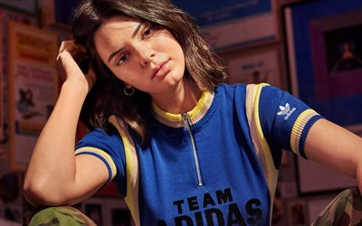 Kendall Jenner, 2018, beauty, photoshoot, Adidas Campaign, Hollywood, brunette, american models