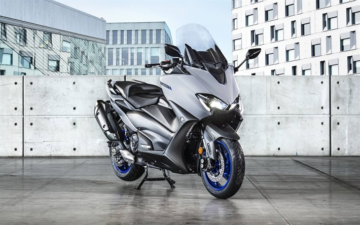 2020, Yamaha TMax, moderno, scooter, trasporto in città, new silver TMax, giapponese, Yamaha