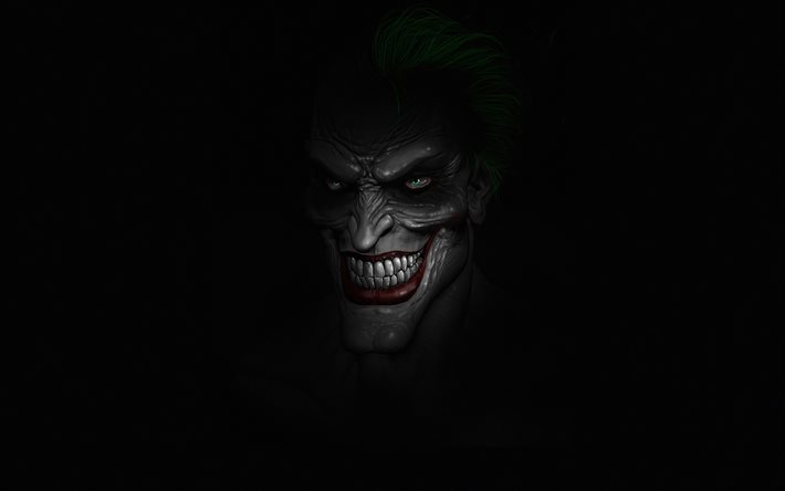 Download Wallpapers 4k Joker Minimal Supervillain Fan Art Black Backgrounds Joker 4k Joker Minimalism For Desktop Free Pictures For Desktop Free