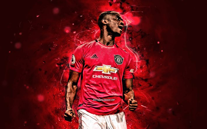 Download Wallpapers Eric Bailly 2020 Manchester United Fc Ivorian Footballers Premier League Eric Bertrand Bailly Neon Lights Soccer Football Man United For Desktop Free Pictures For Desktop Free