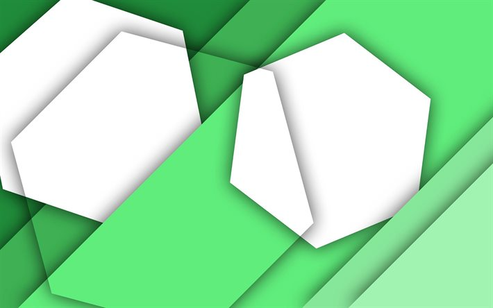 material design, green and white, geometric shapes, lines, lollipop, geometry, creative, strips, green backgrounds, abstract art
