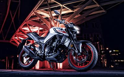 2020, Yamaha MT-03 Ice Fluo, front view, exterior, new silver MT-03, japanese motorcycles, Yamaha