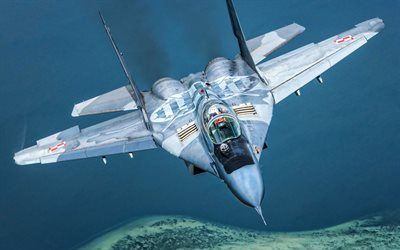 MiG-29, Polish Air Force, Fulcrum, jet fighter, LWF, Polish Army, Flying MiG-29, fighter, Mikoyan MiG-29, combat aircraft