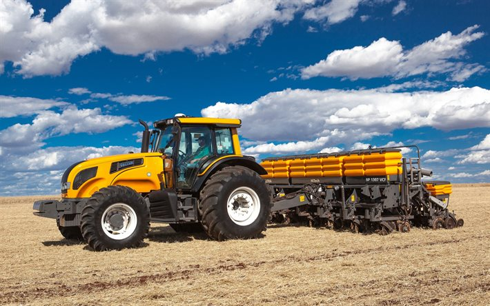 Valtra BH, sowing wheat, modern tractors, agricultural machinery, new, harvesting concepts, tractors, Valtra