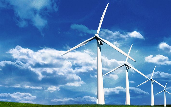 Wind farm, alternative energy sources, electrics concepts, electricity concepts, green energy