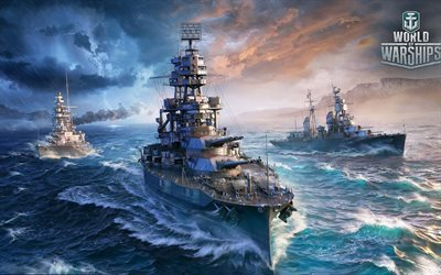 World Of Warship, Arizona, US Navy, World War II, Battleship