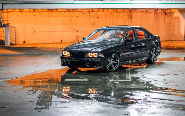 Download Wallpapers E39 Bmw M5 4k Stance Tuning Parking Bmw 5