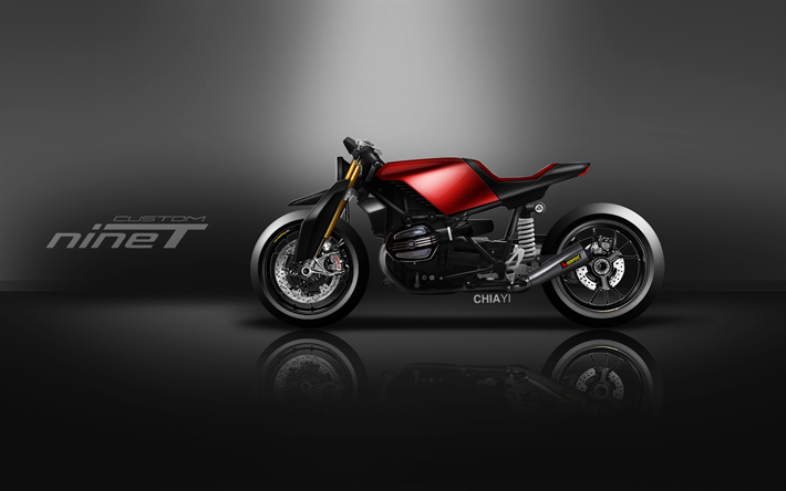 Download Wallpapers BMW R Nine T Custom, 4k, Art, 2018