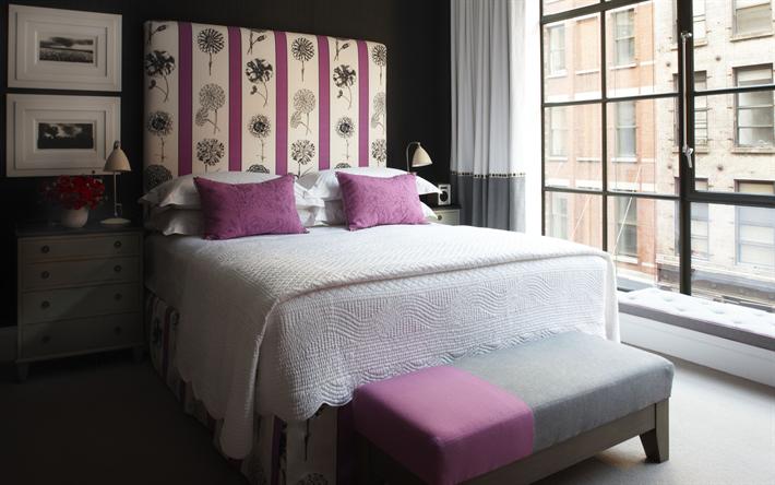 Télécharger fonds d\'écran intérieur de chambre à coucher, de style ...