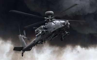 McDonnell Douglas AH-64 Apache, WAH-64D, American attack helicopter, US Air Force, US, military helicopters
