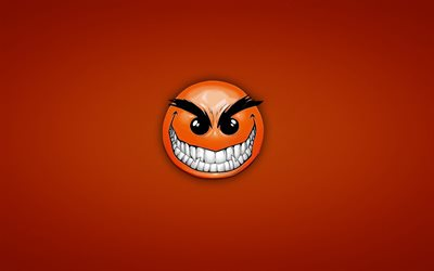 angry smiley, kreativ, orange, hintergrund, emoticons, smiley, gesicht, lächeln