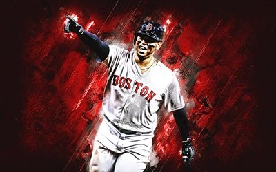 Download Wallpapers Rafael Devers Boston Red Sox Mlb Dominican Baseball Player Portrait Red Stone Background Baseball Major League Baseball For Desktop Free Pictures For Desktop Free