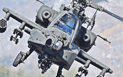 Boeing AH-64 Apache, flying AH-64, combat helicopter, US Army, combat aircraft, military helicopters, AH-64 Apache, US Air Force