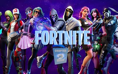 Fortnite 2, poster, 2020 games, Fortnite Chapter 2, Fortnite II, characters, Fortnite