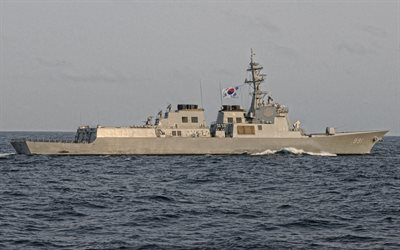 ROKS Sejong the Great, DDG-991, Republic of Korea Navy, warships, South Korean flag