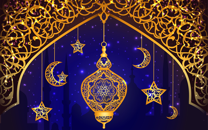 Download wallpapers Ramadan, islam, religion, muslim holiday, lamp, holiday, art, Ramazan for ...
