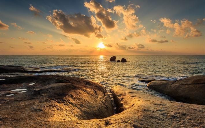 thumb2 sunset ocean rocks waves seascape