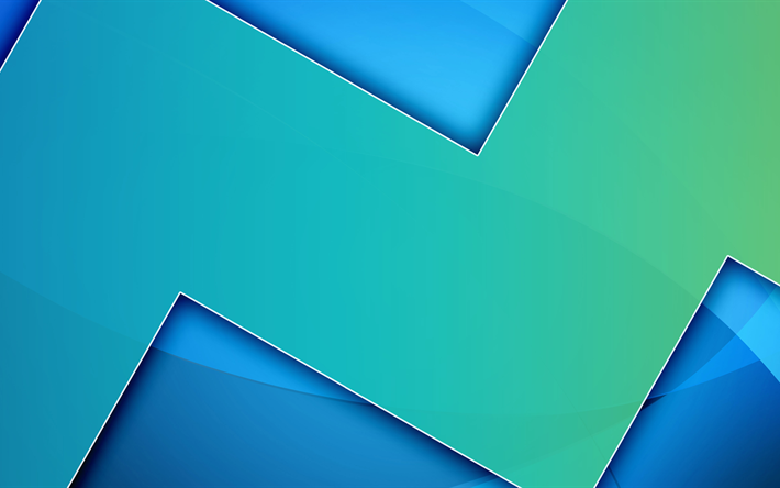 blue background, 5k, android creative, lines, geometry, abstract material