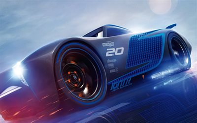 Jackson Storm, 2017 movie, art, Pixar, 3d-animation, Cars 3, Disney