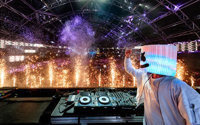 Marshmello, DJ, 4k, konsertti, progressiivinen house, night club