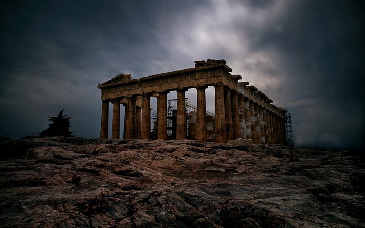 Download wallpapers Parthenon, Athens, Acropolis ...