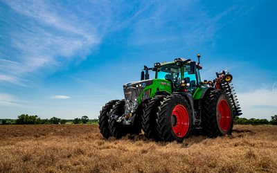 Fendt 942 Vario, 4k, HDR, 2020 tractors, plowing field, agricultural machinery, tractor in the field, agriculture, Fendt