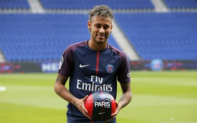 Neymar JR, 4K, Football, Paris Saint-Germain, France, PSG, France League 1, Brazilian football player