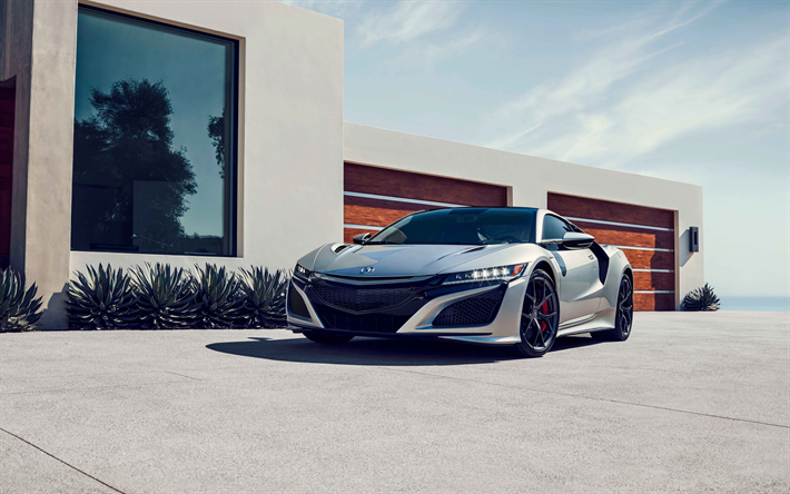 Download Wallpapers Acura Nsx 2019 Exterior Front View Silver