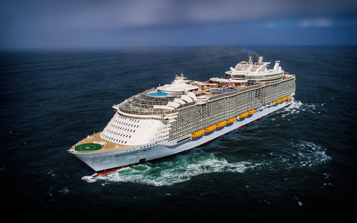 Download Wallpapers Symphony Of The Seas Cruise Ship Luxury Large White Ship Sea Cruise Liner Royal Caribbean International Oasis For Desktop Free Pictures For Desktop Free