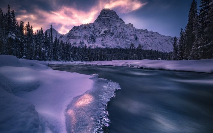 download wallpapers mountain landscape winter snow