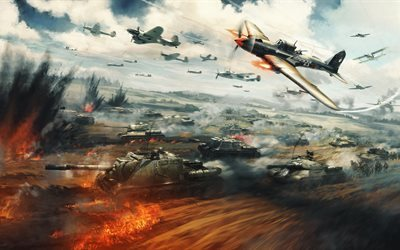 War Thunder, 4k, tanks, 2016 games, fighters