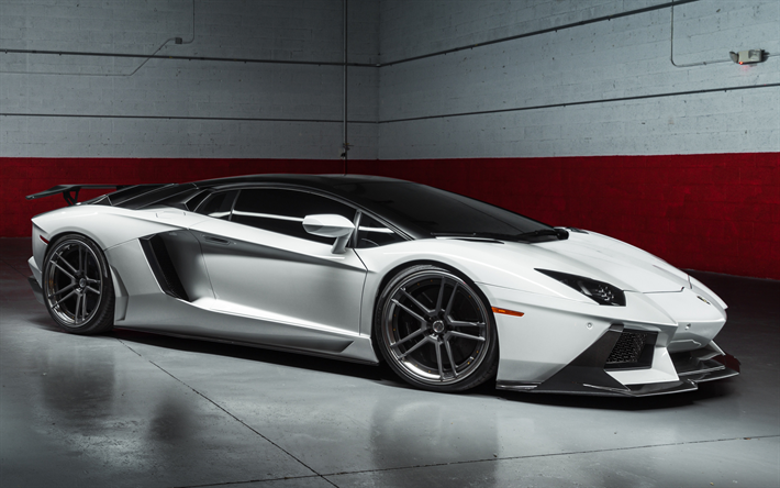 Download Wallpapers Lamborghini Aventador 2019 Italian Supercar