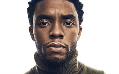 Chadwick Boseman, portrait, American actor, photoshoot, face, Hollywood, movie stars, Avengers