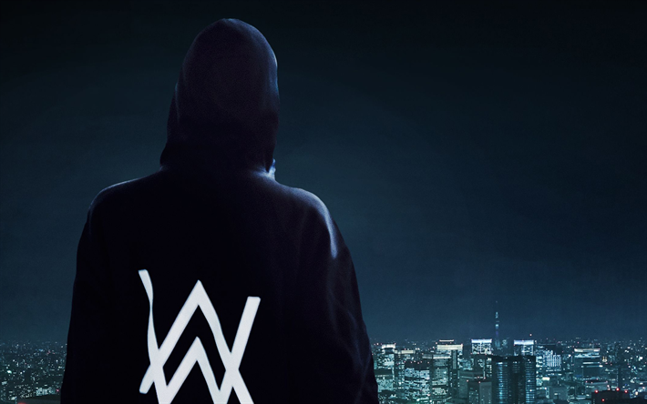 Alan Walker, back view, superstars, stage, DJ Alan Walker, DJs