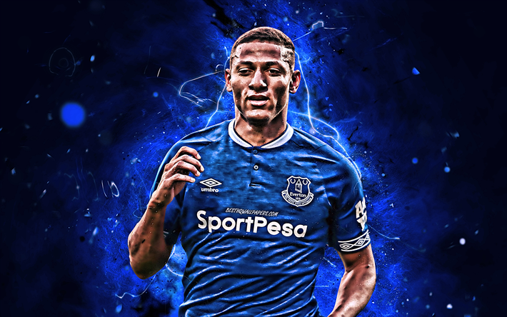 Richarlison Wallpaper: Download Wallpapers Richarlison, Close-up, Everton FC