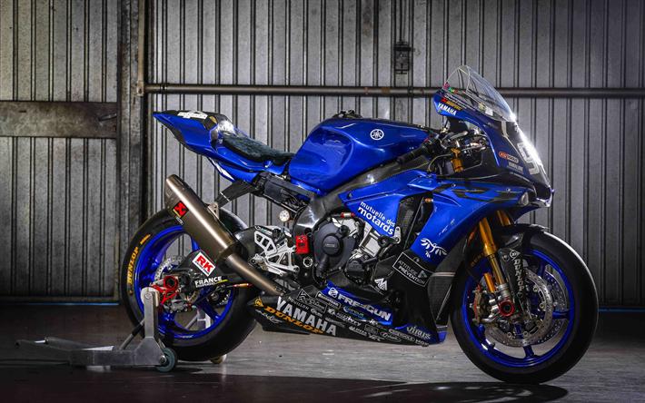 Download Wallpapers Yamaha Yzf R1 4k 2017 Bikes Sportbikes Yamaha Team Gmt94 Yamaha For Desktop Free Pictures For Desktop Free
