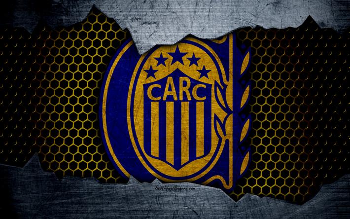 Download Wallpapers Rosario Central 4k Superliga Logo Grunge