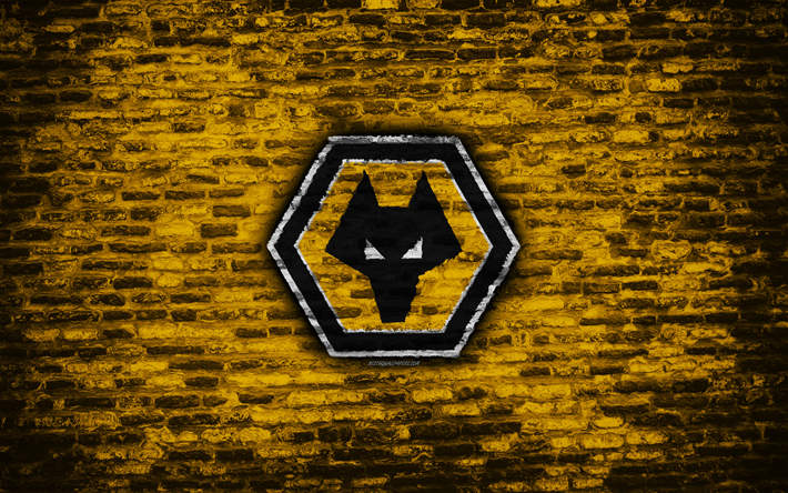 Download Wallpapers Wolverhampton Wanderers FC, Logo