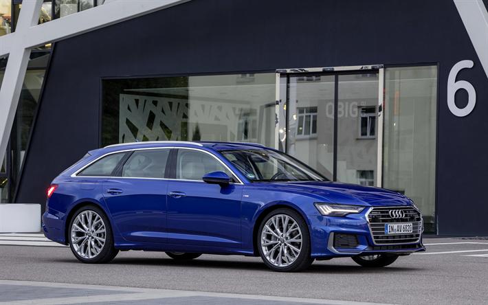 Download Wallpapers Audi A6 Avant 2019 Exterior New Blue A6