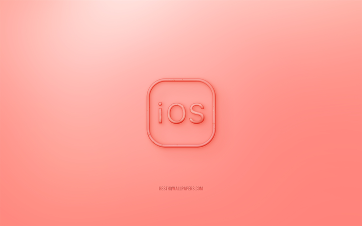 Download Wallpapers Ios 3d Logo Red Background Ios Jelly Logo Ios Emblem Creative 3d Art Ios Iphone Wallpaper Apple For Desktop Free Pictures For Desktop Free