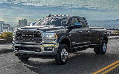 2020, Ram 2500, exterior, front view, big gray pickup truck, new gray Ram 2500, american cars, Ram