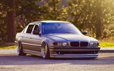 BMW 7-Series, tuning, E38, low rider, 1997 cars, BMW 7-Series III, BMW E38, german cars, BMW